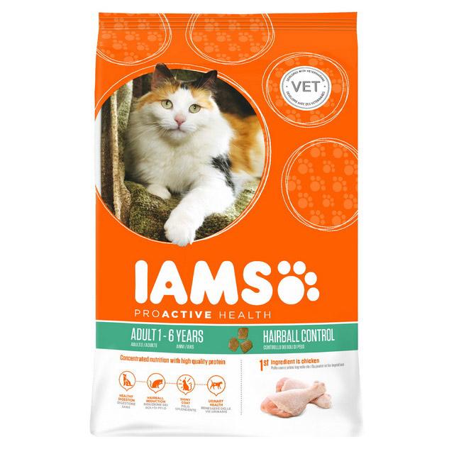 Iams для пожилых кошек с океанической рыбой и курицей